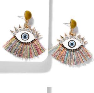 Fashion eye earrings Multicolor